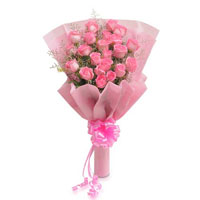 gift a bunch of 22 pink rose to your special one