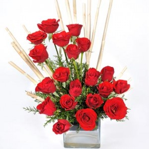 express of love with 20 red roses