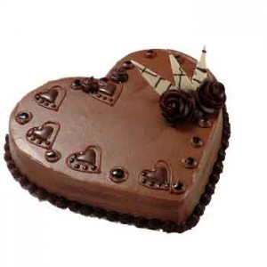1kg heart shaped chocolate cake