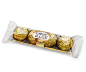 5 piece of ferrero Rocher